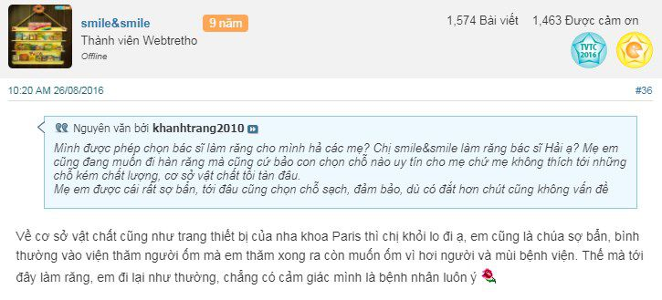 Địa chỉ hàn răng uy tín ở Hà Nội qua ý kiến khách hàng thực tế 7