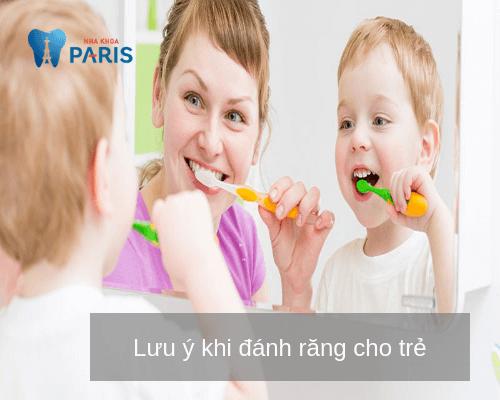 Cách đánh răng cho trẻ - Lưu ý quan trọng